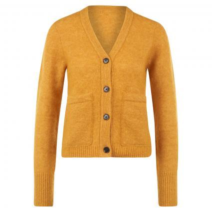 Strickjacke aus Mohair-Woll Mischung gold (647 Golden Yellow) | 38