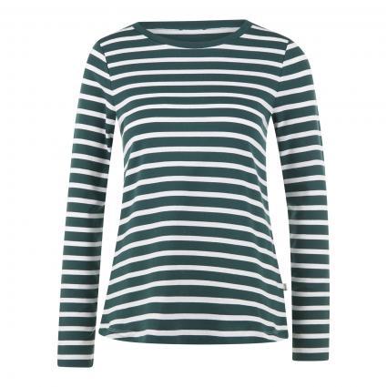 T-Shirt mit Streifenmuster grün (235 Crocodile Green) | 42