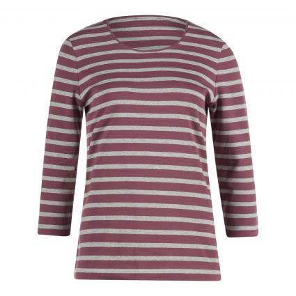 3/4 Arm Shirt mit Streifenmuster beere (422 Mulberry)   36