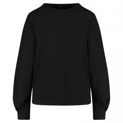 Sweatshirt 'Urmel' mit Raffdetails schwarz (900 black) | 42