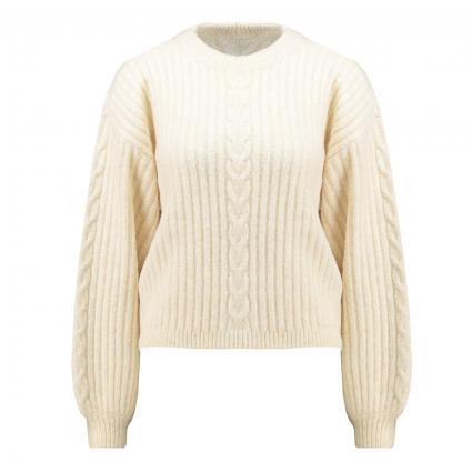 Pullover 'Tairi' mit Ballonärmel beige (2086 cloudy cream) | 42