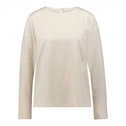 Casualbluse in Satin-Optik ecru (2068 ivory) | 40