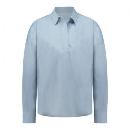 Bluse mit V-Ausschnitt 'Zwito' blau (6079 quiet blue)   S
