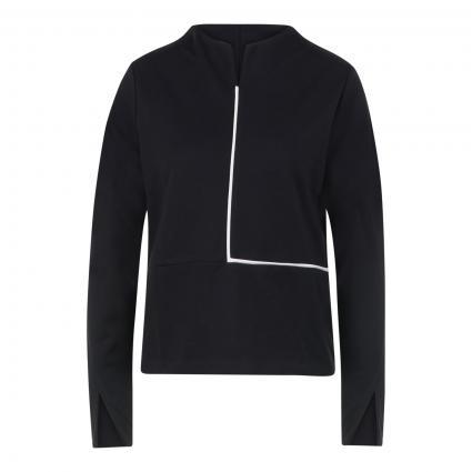 Sweatshirt mit Schlitz-Details schwarz (900 black)   38