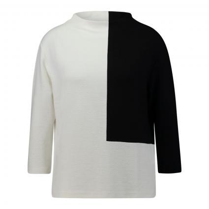 T-Shirt 'Kirtal bold' in Crepe-Optik ecru (1004 milk) | 42