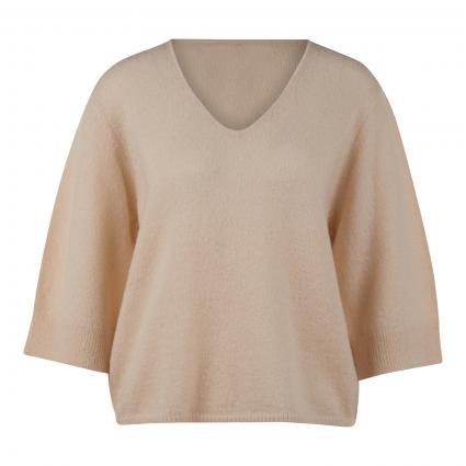 Pullover 'Tilki' mit kurzem Arm beige (2074 pearl mélange) | 42