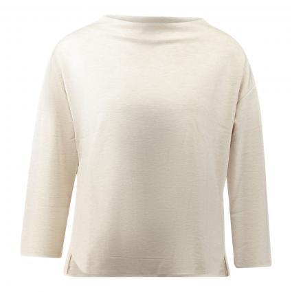 Langarmshirt 'Kamada' beige (2074 pearl mélange) | 40