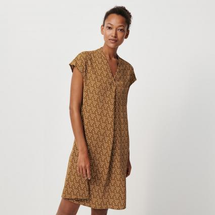 Kleid 'Qalima' mit V-Ausschnitt cognac (2096 cinnamon) | 36