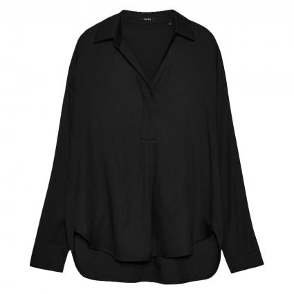 Bluse 'Zericana' mit Krempelarm schwarz (900 black) | 36