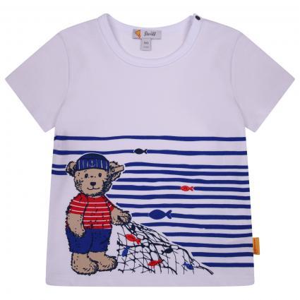 T-Shirt mit Bärenmotiv in Seemann's-Look weiss (1000 BRIGHT WHITE) | 74