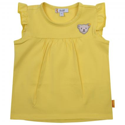 T-Shirt mit Logo-Stickerei  gelb (2005 YELLOW CREAM) | 92
