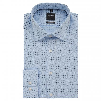 Modern-Fit Hemd mit Musterung blau (11 bleu) | 43