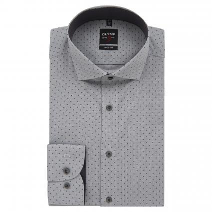 Body-Fit Hemd mit Musterung grau (62 grau) | 40