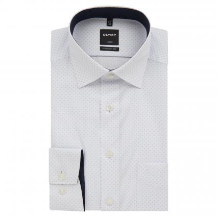 Slim-Fit Hemd mit Musterung blau (11 bleu) | 39