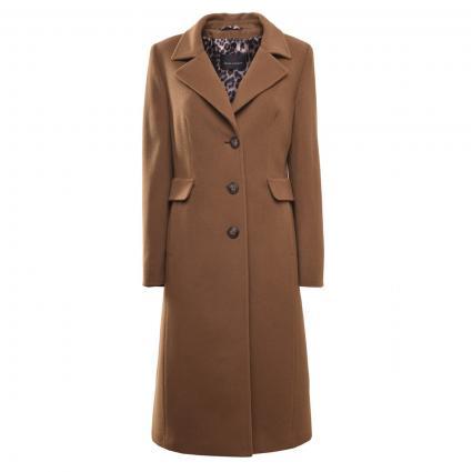 Mantel aus Wolle camel (0052 HELLBRAUN) | 40