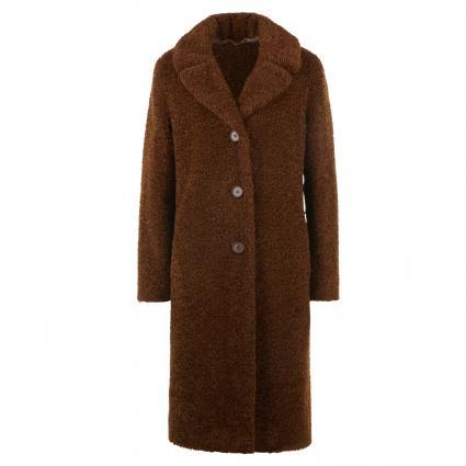 Mantel aus Webpelz braun (0050 HELLBRAUN) | 40