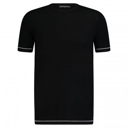 Poloshirt 'Triton' in Strickoptik schwarz (1000 schwarz) | L