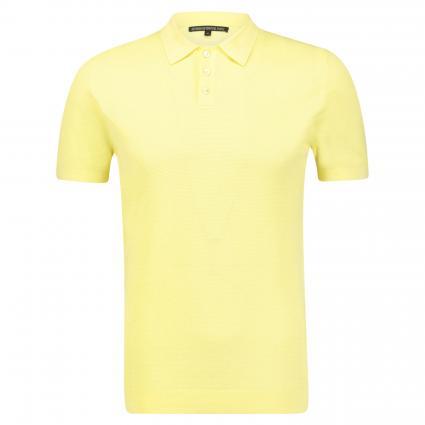 Poloshirt 'Triton' in Strickoptik gelb (7800 gelb) | L