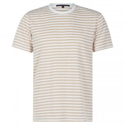 T-Shirt 'Samuel' mit Streifenmuster beige (1700 braun) | XL