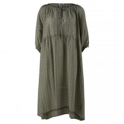 Bluse mit Musterung oliv (2110 grün) | 36