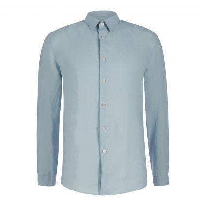 Stehkragenhemd 'Tarok' aus Leinen blau (3900 blau) | XL