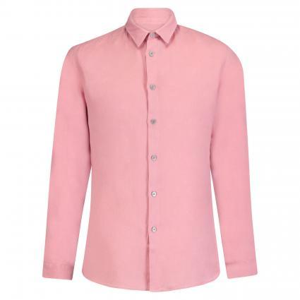 Stehkragenhemd 'TAROK' aus Leinen rose (5800 rot) | L