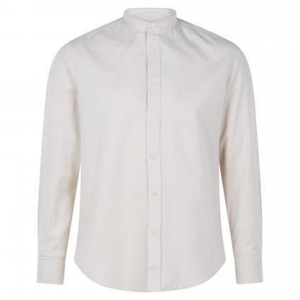 Slim-Fit Hemd 'Tarok' mit Stehkragen beige (1700 braun) | XL