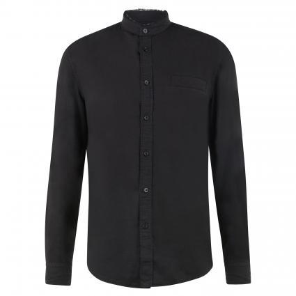 Hemd 'Daryl' mit Stehkragen schwarz (1000 schwarz) | M