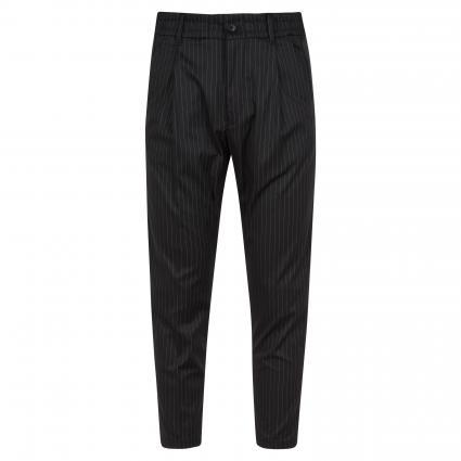 Hose mit Streifenmuster schwarz (1000 schwarz) | 33 | 34