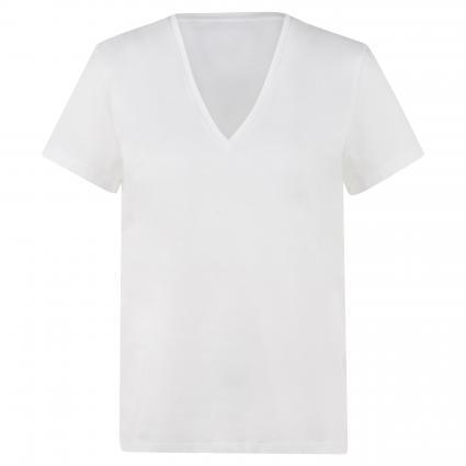 T-Shirt 'Nilia' mit V-Ausschnitt  weiss (6000 weiss) | M
