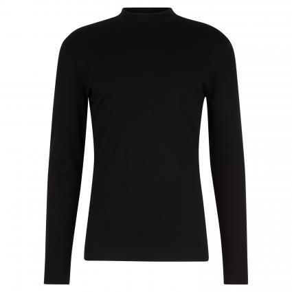 Leichtes Sweatshirt 'Moritz' mit Stehkragen schwarz (1000 schwarz)   S