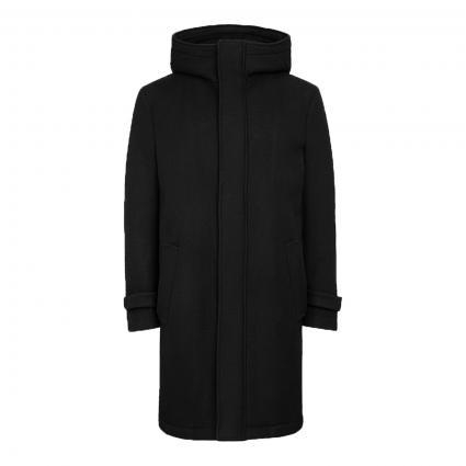 Kurzmantel 'Secset' mit Kapuze schwarz (1000 schwarz) | 48