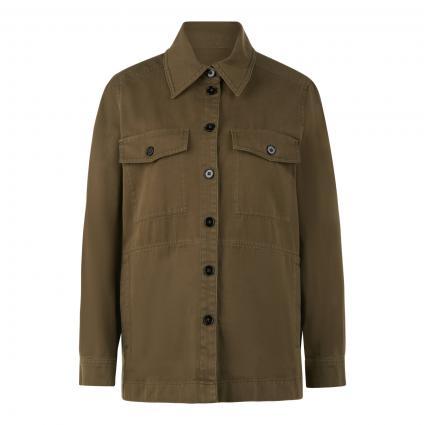 Bluse 'Nathen' im Overshirt-Stil oliv (2120 grün) | 42