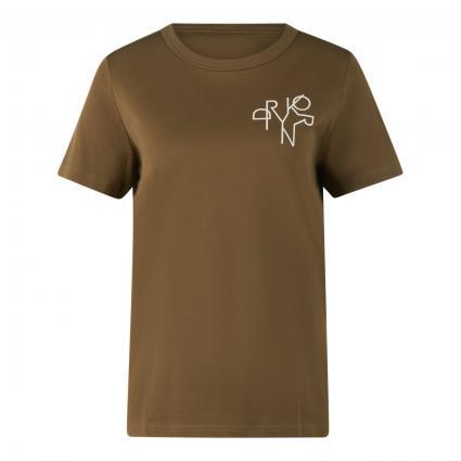 T-Shirt 'Anisia' mit Label-Print oliv (2120 grün)   XS