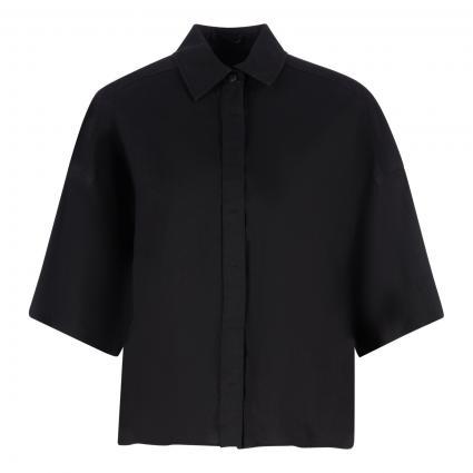 Oversize-Bluse 'Therry' aus reinem Leinen schwarz (1000 schwarz) | 36