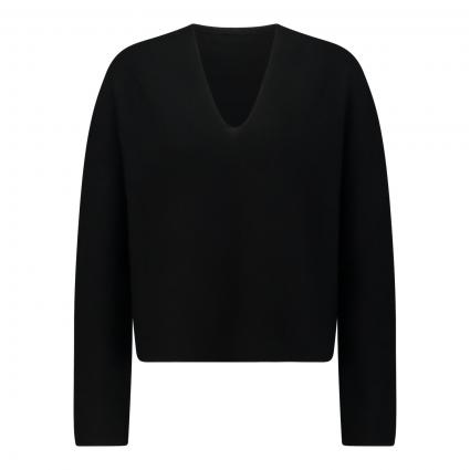 Pullover 'LINNIE' mit V-Ausschnitt  schwarz (1000 schwarz) | S
