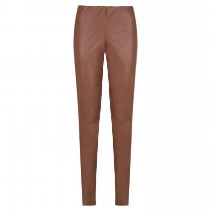 Hose in Leder-Optik braun (260 sugar brown)   34   30