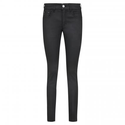 Slim-Fit Hose mit Glanz-Finish schwarz (090 black)   46   30