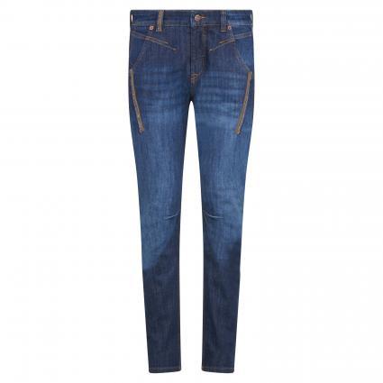 Regular-Fit Jeans 'Rich' mit Nietendetails blau (D685 dark authentic) | 42 | 28