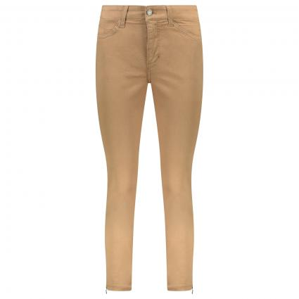 Regular-Fit Jeans 'Dream Chic' mit Reißverschlussdetail cognac (259R light cognac PP) | 32 | 27