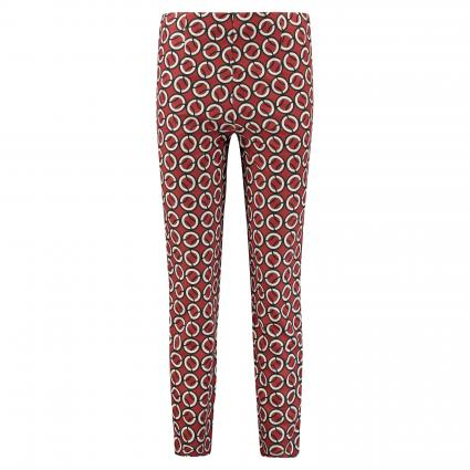 Hose 'Anna' mit All-Over Muster cognac (495B rust red printe) | 42 | 29
