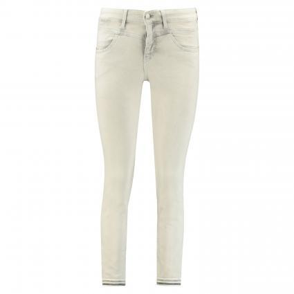 Slim-Fit Jeans 'Dream' mit Steinchenbesatz grau (D300 grey bleached) | 40 | 28