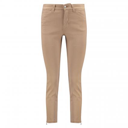 Regular-Fit Jeans 'Dream Chic' mit Reißverschlussdetail beige (257R golden terra PP) | 30 | 27