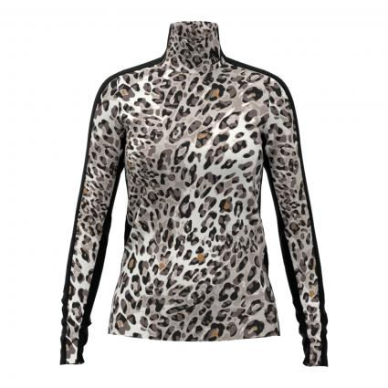 Langarmshirt mit Animal-Muster beige (610 light stone) | 44