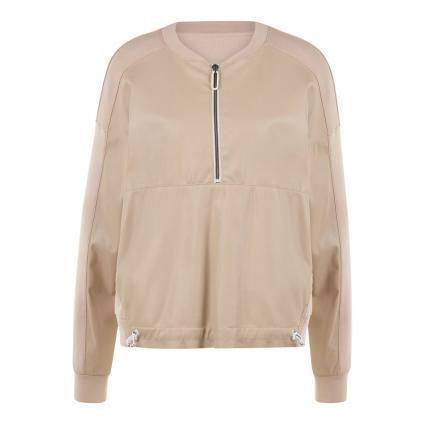 Sweatshirt mit Zipper  beige (602 latte macchiato) | 40