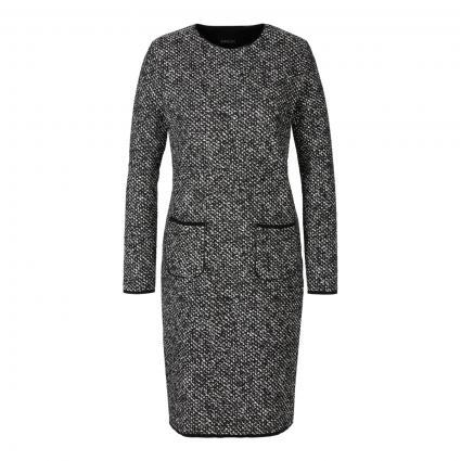 Elastisches Kleid mit Musterung schwarz (910 black and white)   42