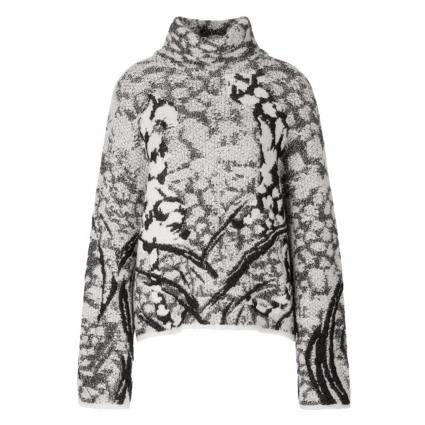 Pullover mit Strukturmuster weiss (190 white and black) | 38