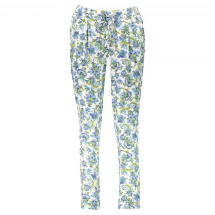 Hose mit All-Over Muster weiss (100 white) | 42