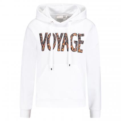 Hoodie mit Voyage print weiss (100 white)   XL