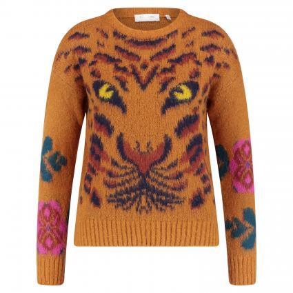 Pullover mit Tiger-Print cognac (248 ginger brown) | S